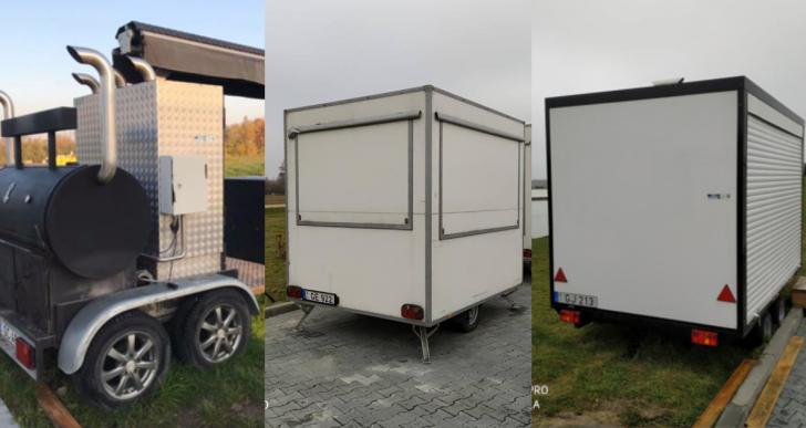 """Vietos veiklos grupė """"Pajūrio kraštas"""" parduoda nebenaudojamą turtą – 4 universalias mobilias lauko virtuves su maisto gaminimo įranga"""