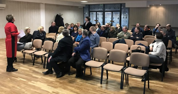 """Vasario 26 d., Vėžaičių konferencijų salėje vyko eilinis visuotinis VVG """"Pajūrio kraštas"""" susirinkimas."""