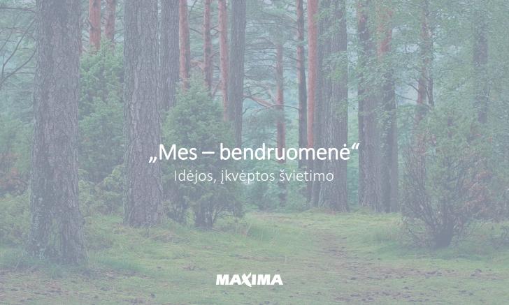 """""""Maxima"""" bendruomenių mokymosi veikloms skirs 80 000 eurų"""